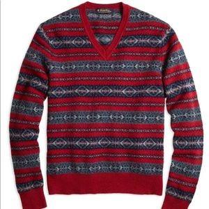 Brooks Brothers Lambswool Fair Isle Sweater XL